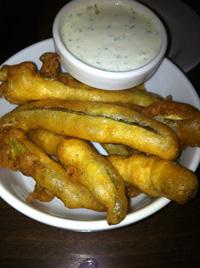 fried pickles at pat's tap