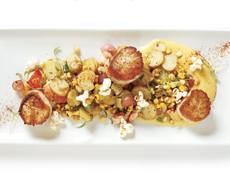 Marin's Scallops with Lobster-Fingerling Hash