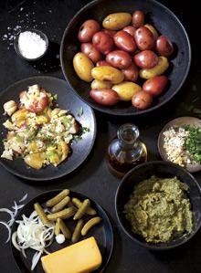 Potatos with toppings