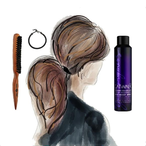 Volume ponytail