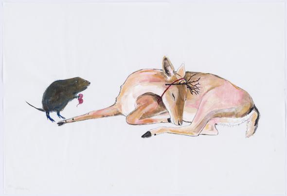 Julie Buffalohead - The Misgiving Stick