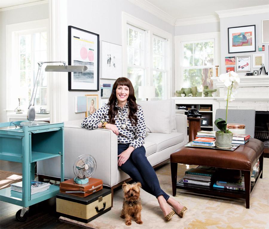 Carol Bruess in Living Room