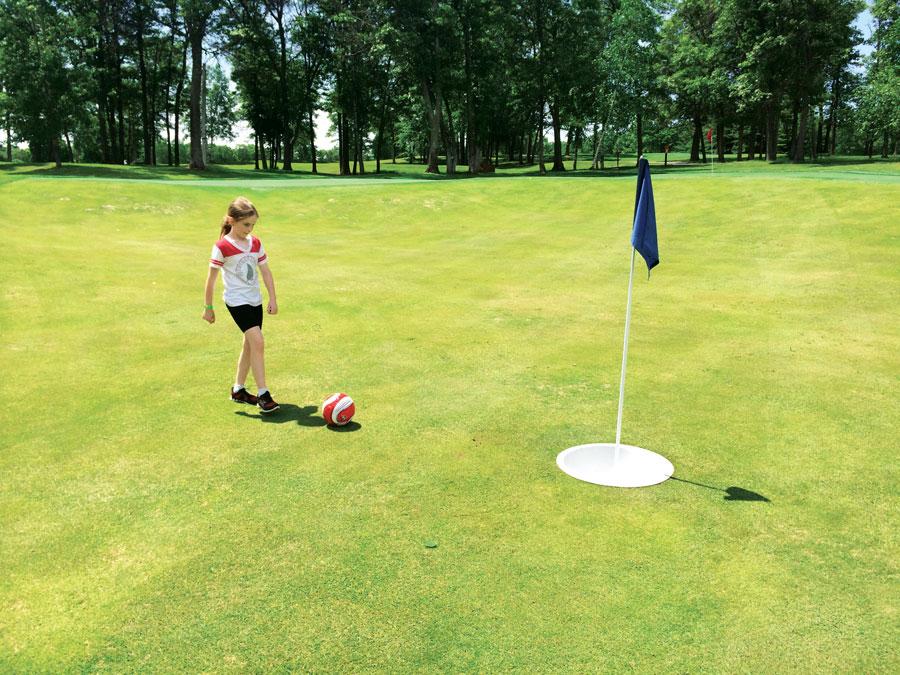 foot golf, cragun's resort