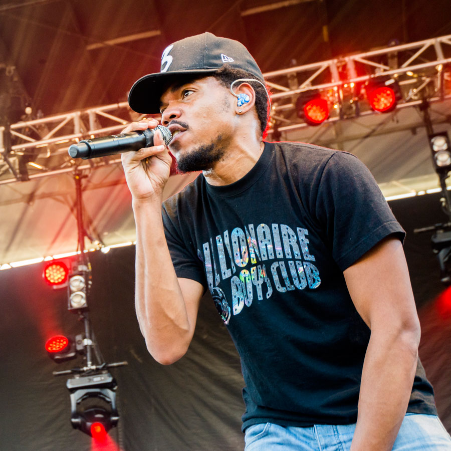 chance the rapper, rock the garden, stepping out, scene, events, concerts