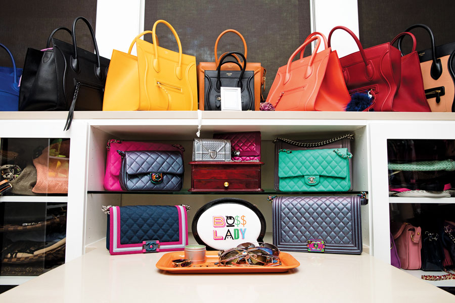 The look Statement-making designer handbags and shoes dominate Nicole Jenning's enviable closet.
