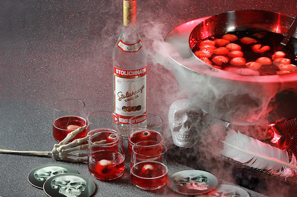 Stoli vodka Halloween cocktail
