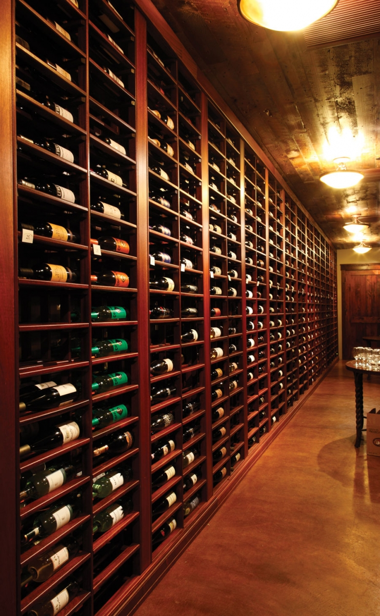 The wine bar at Cru Restaurant & Wine Bar at Grand View Lodge in Nisswa, Minnesota.