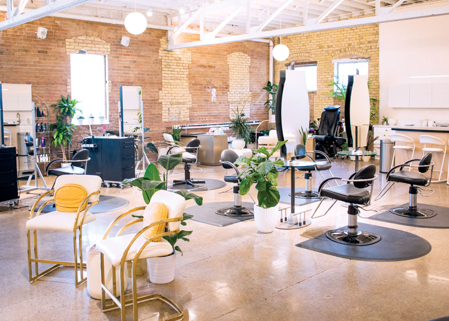 Inside Gem Salon & Spa in St. Paul, Minnesota.