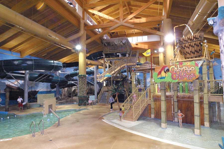 Big Splash Indoor Waterpark at Arrowwood Resort.