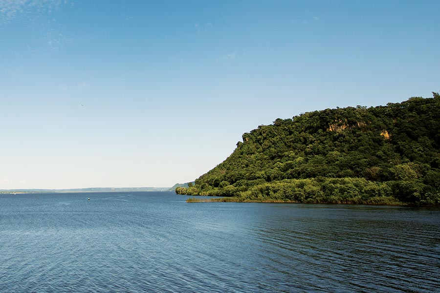 Bluffs on the Mississippi River.