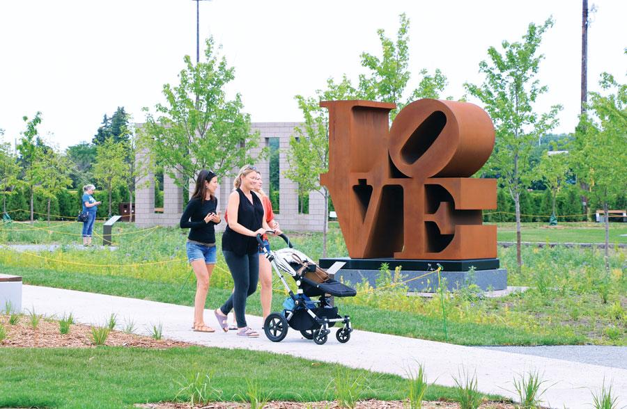 The Love sculpture at the Minneapolis Sculpture Garden.