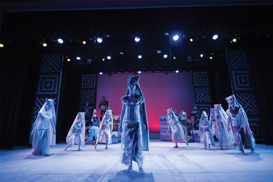 A production of Lion King Jr.