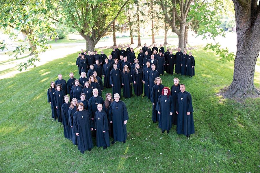 An overhead shot of the National Lutheran Choir.