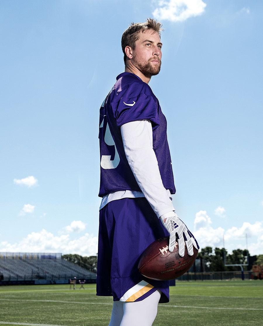 online retailer 82f7e 0eaaf Adam Thielen: The Vikings' Unlikely Star | Minnesota Monthly