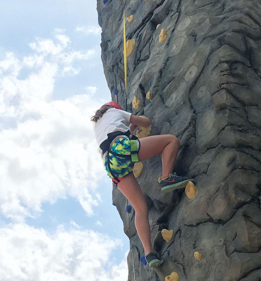 Rock climbing at Giant's Ridge.