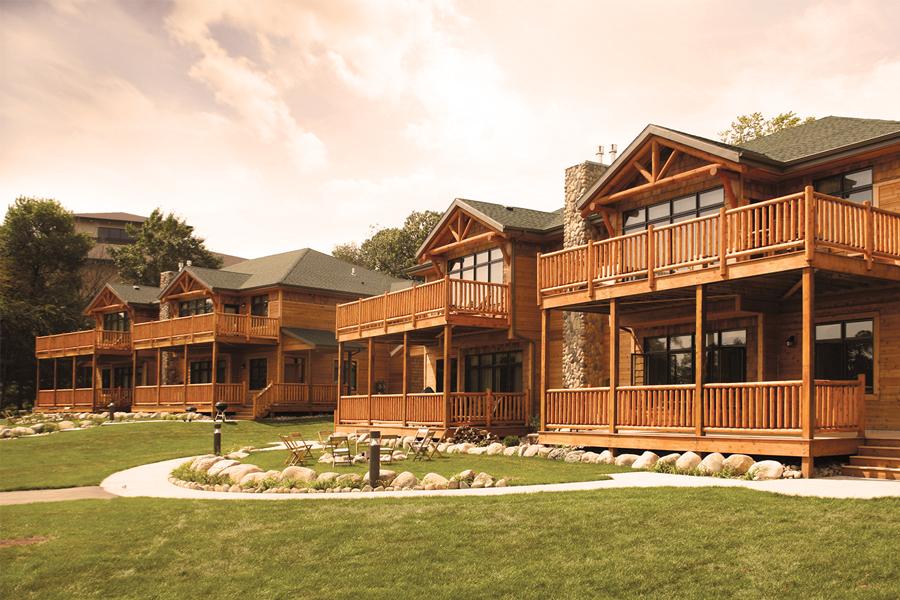 The lodges at Arrowwood Resort.