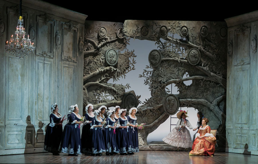 A production of The Marriage of Figaro.