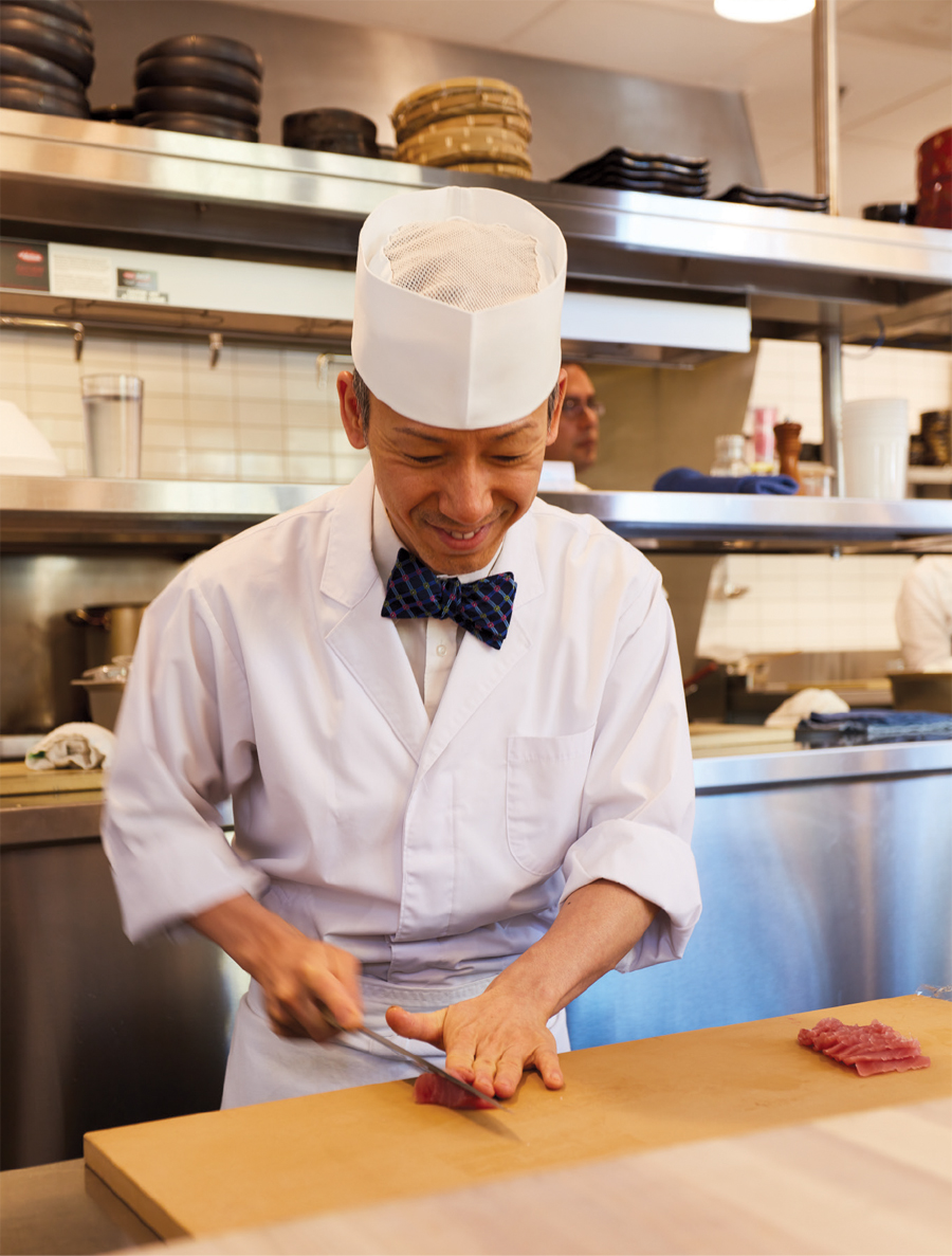 Chef Shigeyuki Furukawa preparing a meal.