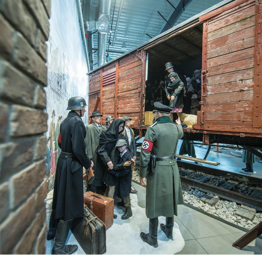 A German rail car from World War II at the Fagen Museum in Granite Falls.