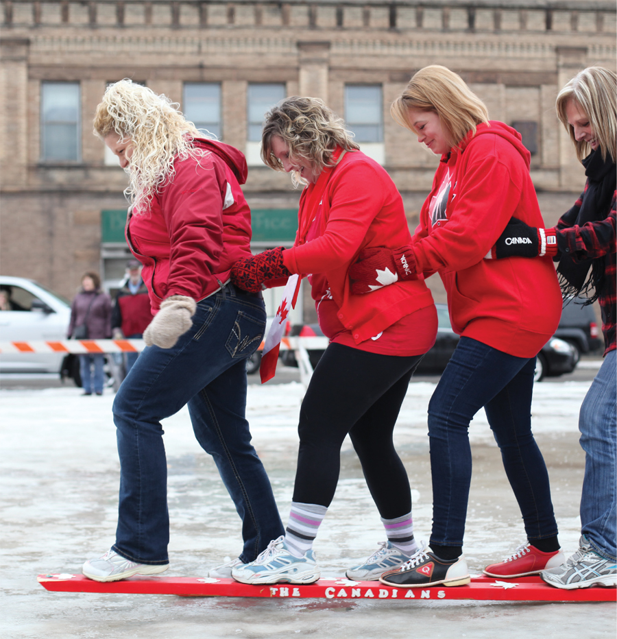 Smoosh race at International Falls' Ice Box Days.