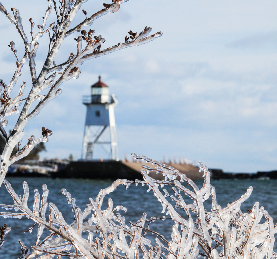 The lighthouse in Grand Marais.