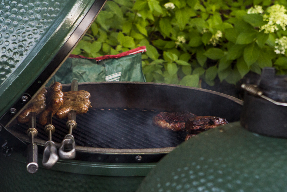 Photo of a Big Green Egg grill at Fine Spirits Classic 2015 (Hannah Andersen)