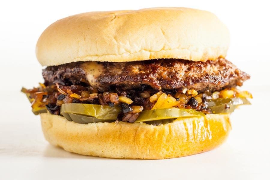 A burger from Matt's Bar in Minneapolis, Minnesota.