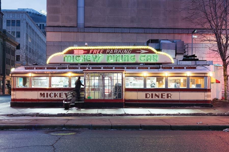 Mickey's Diner in St. Paul, Minnesota.