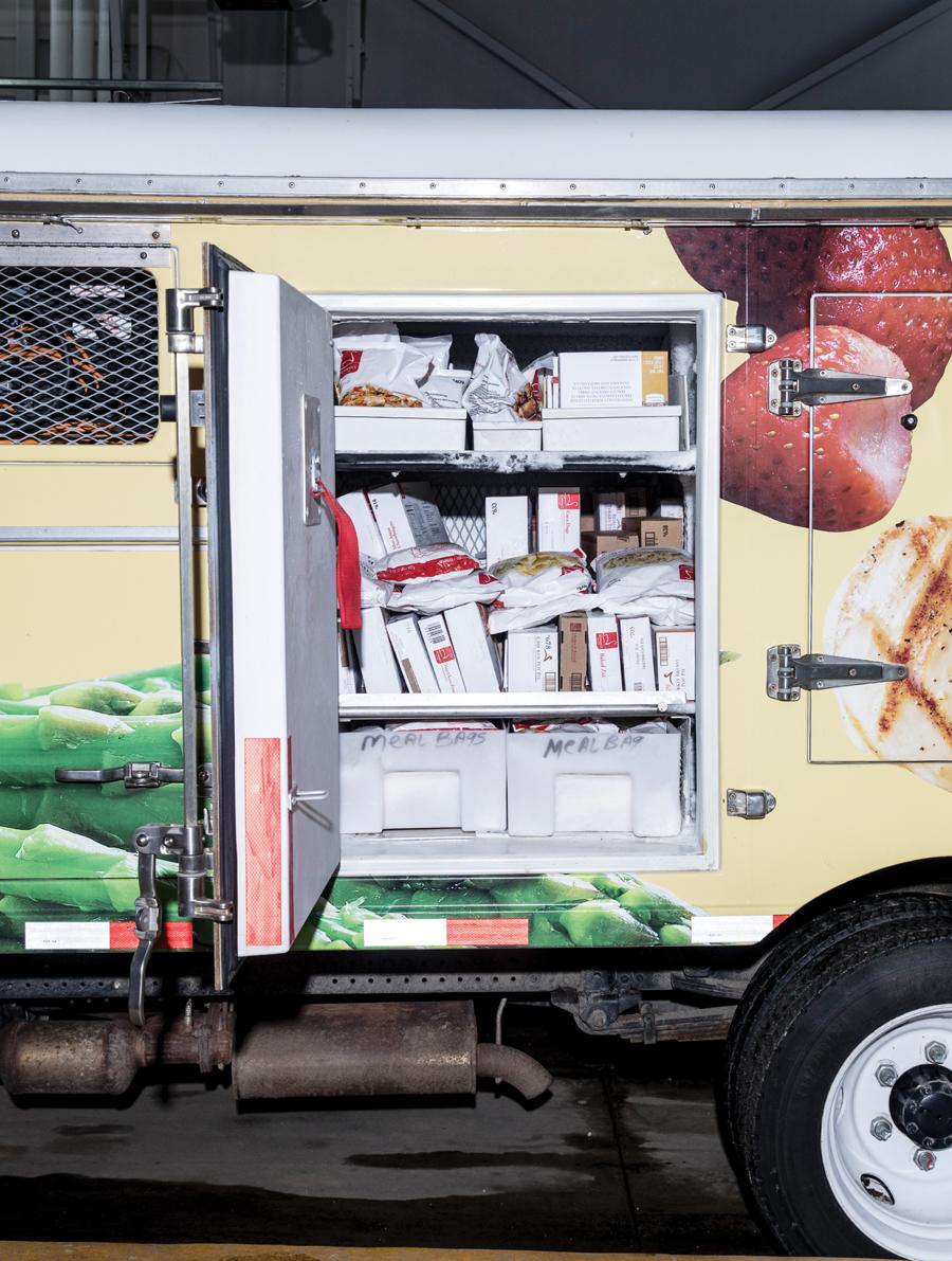 The inside of the modern Schwan's trucks.