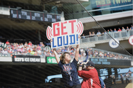 Fans at Twins games