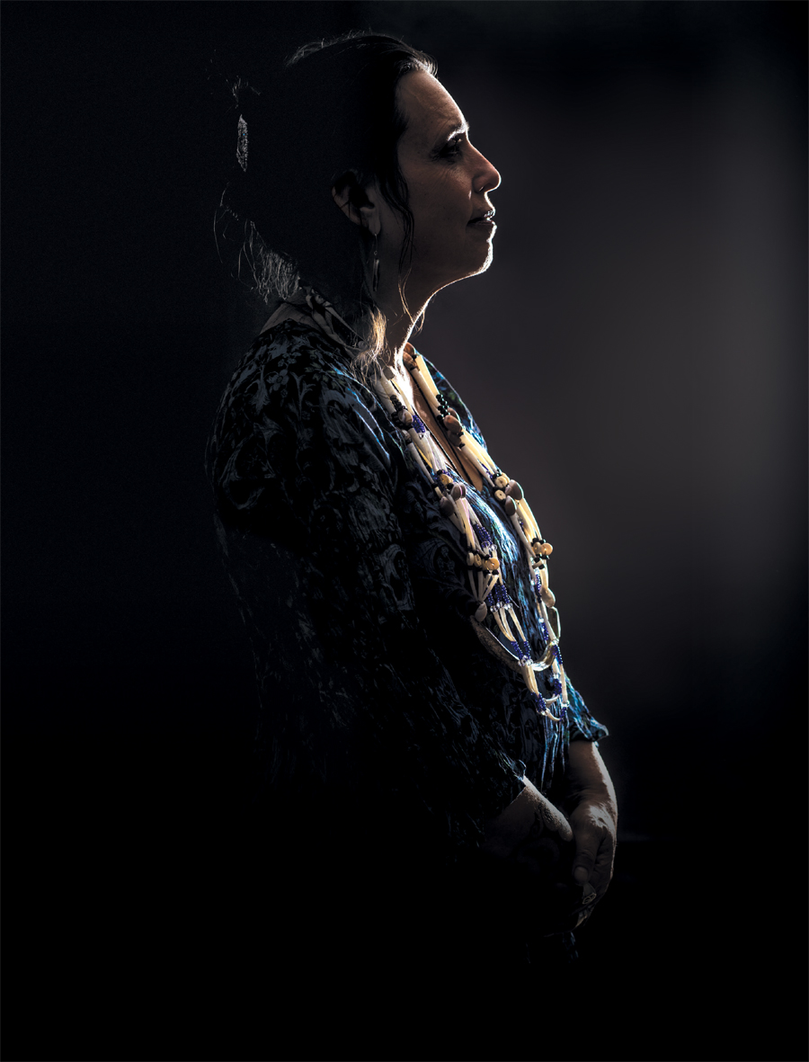 A portrait of Winona LaDuke.