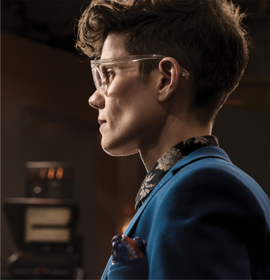 A portrait of KARE 11's Jana Shortal from the side.