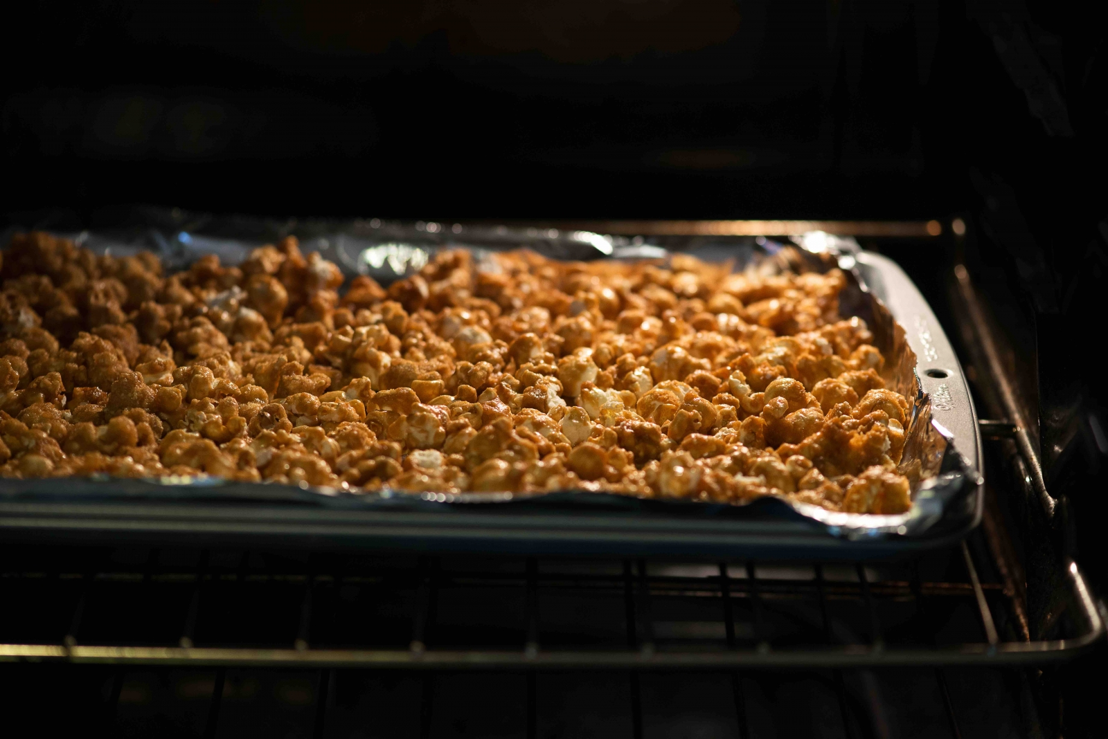 The last step--cooking your caramel corn. Photo courtesy of the Popcorn Board.