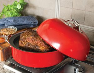 Enjoy that rich, smoky flavor year-round with this stove- or grill-top Kettle Smoker that's big enough for a whole chicken, or even ribs. It's made in St. Louis Park by the Dalquist family. Available at the Factory Store, and at nordicware.com, $132.50