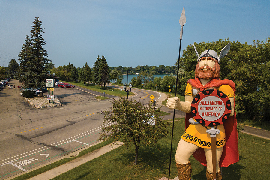 The Big Ole statue in Alexandria, Minnesota.