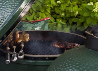 Photo of a Big Green Egg grill for Minnesota Monthly's August giveaway