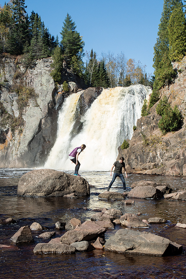 The High Falls at Tettegouche State Park.