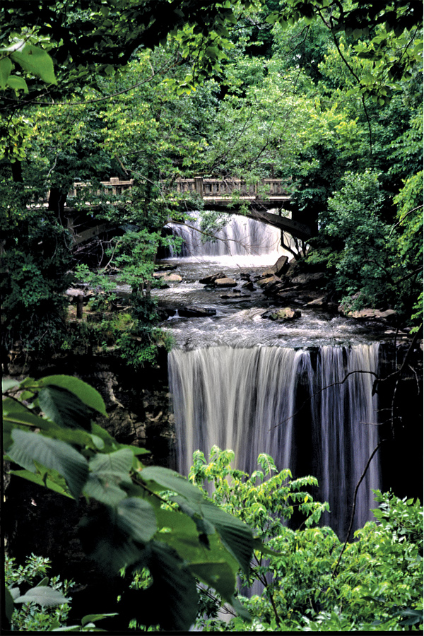 Minneopa Falls in Mankato, Minnesota.