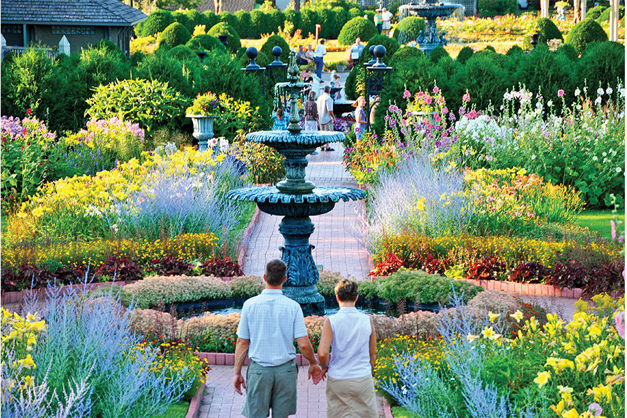 People at the Munsinger/Clemens Gardens in St. Cloud, Minnesota.