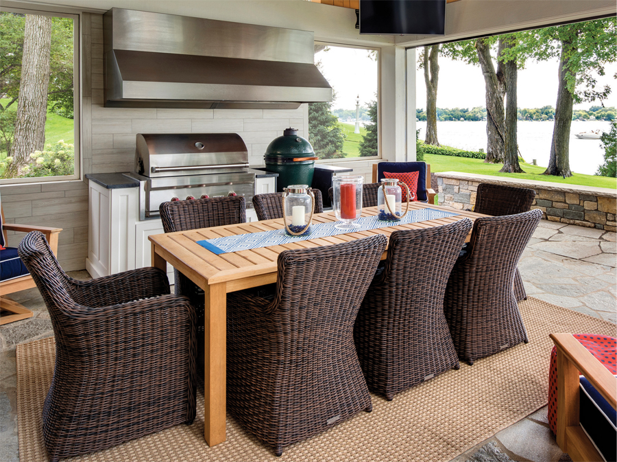 wicker chairs for kitchen table Summer Home Update Outdoor Kitchen Minnesota Monthly