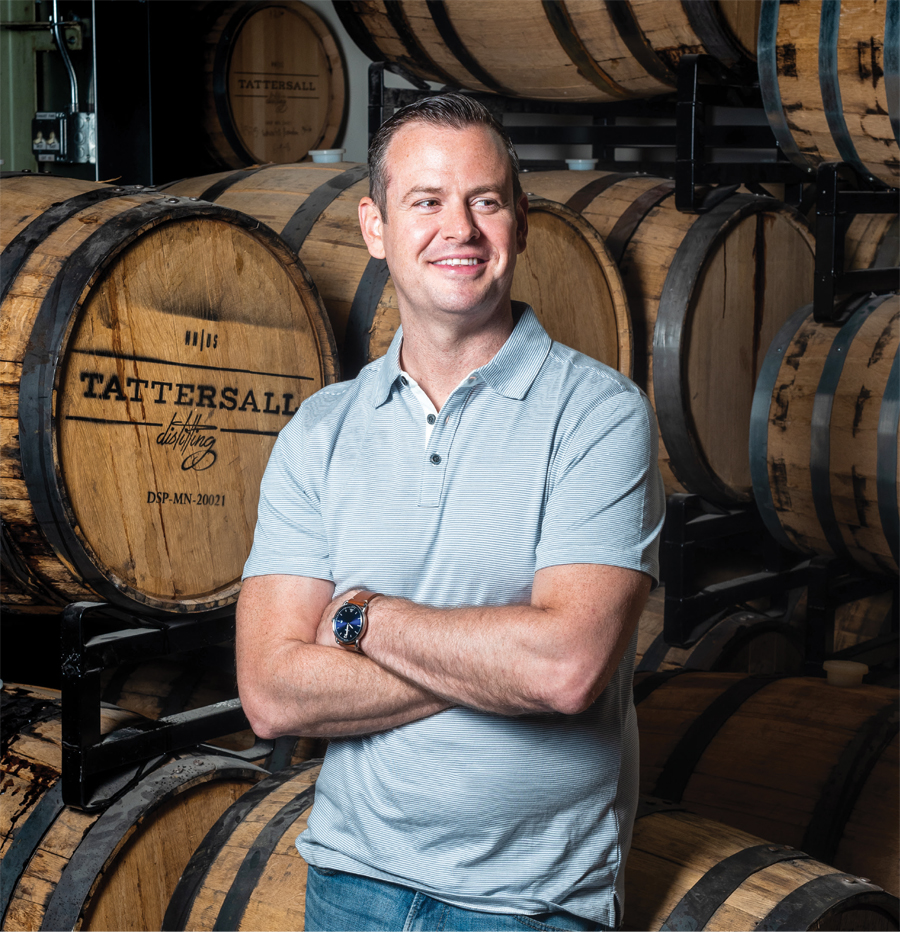 A portrait of Tattersall Distilling founder Dan Oskey.