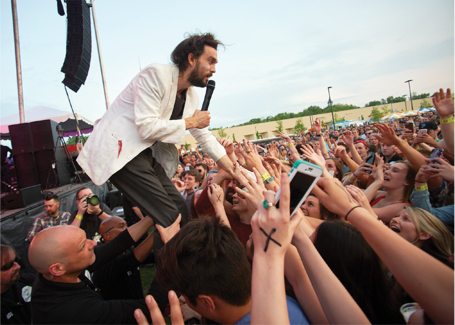 Edward Sharpe and the Magnetic Zeros played to 5,000 at Surly Festival Field in 2016.