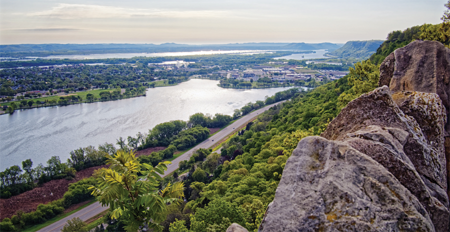 An overlook in Winona.
