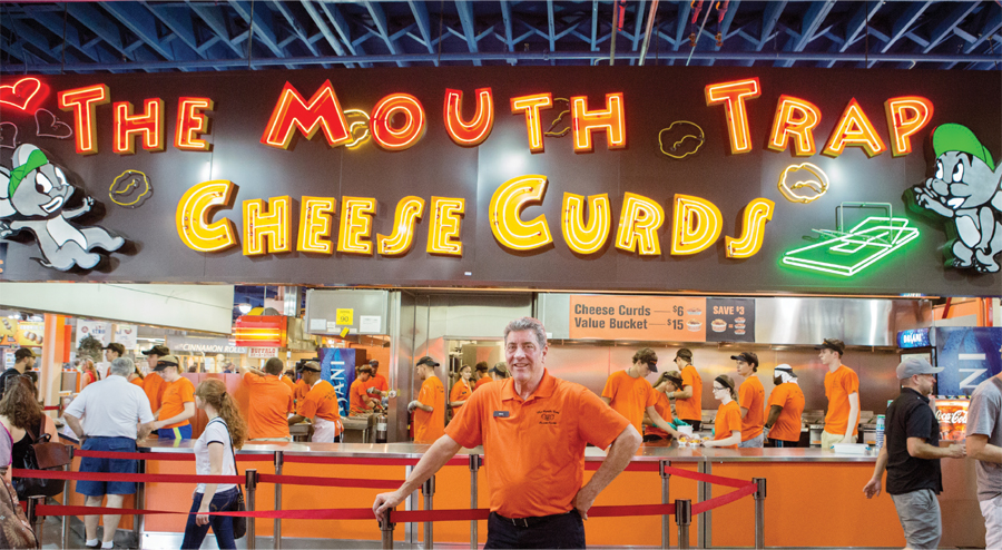 The Mouth Trap Cheese Curds stand at the Minnesota State Fair.