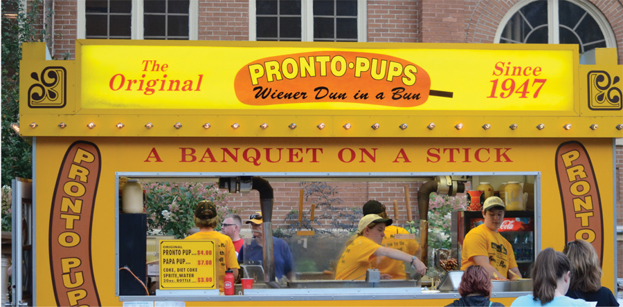 Pronto Pup stand at the Minnesota State Fair.