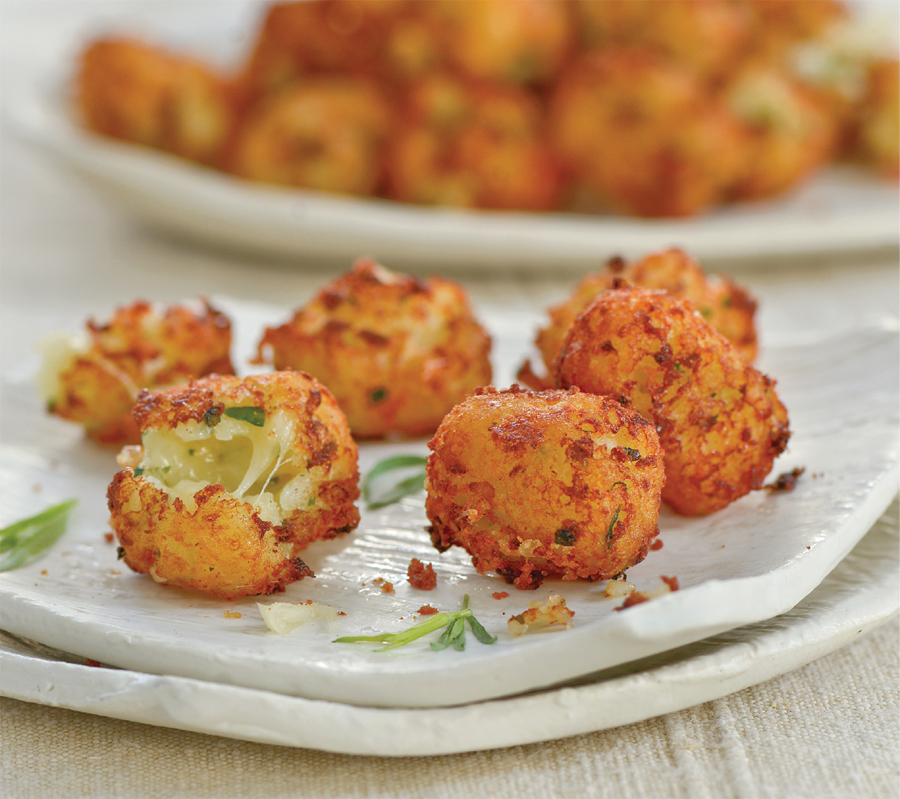 Cheesy tarragon tots from Raghavan Iyer's Smashed, Mashed, Boiled, and Baked—and Fried, Too!