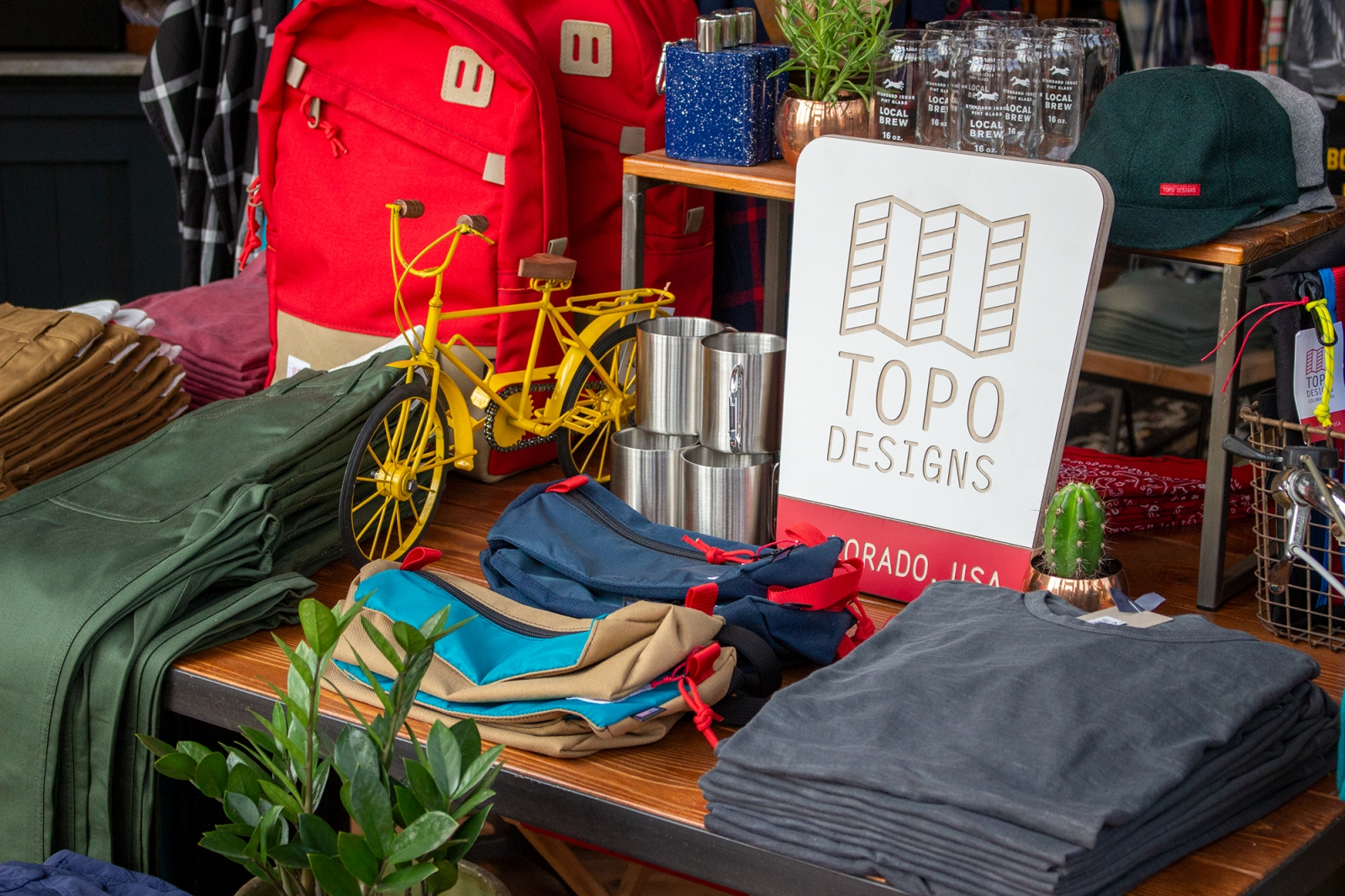 Apparel, home decor, and bar tending accessories at Scout Boutique. Courtesy Scout Boutique.