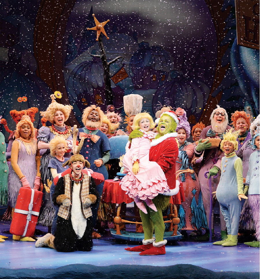 A production of Dr. Seuss's How the Grinch Stole Christmas by the Children's Theatre Company.