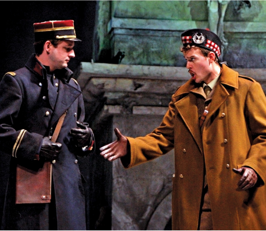 Two men in a production of Silent Night at Minnesota Opera.