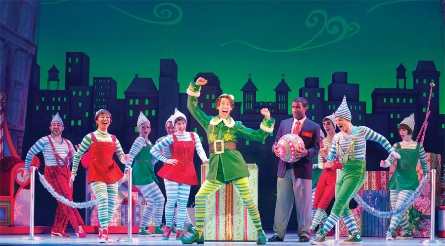A production of Elf The Musical at the Ordway Center for the Performing Arts.